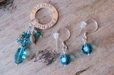 FRIENDS pendant and earrings set sterling by CreativeWorkStudios Earring Set, Swarovski, Drop Earrings, Pendant, Friends, Jewelry, Amigos, Jewlery, Bijoux