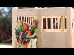 How to make a Schleich Stable - YouTube