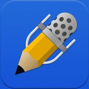Notability - write by hand or keyboard, record and add other media