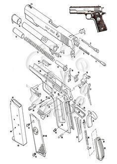 Colt 38 Caliber Super Semi Automatic pistol