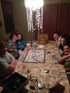 All of our kids playing board games New Years Eve 2013