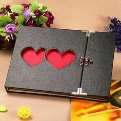 Hollowed Heart Love Photo Image Album Scrapbook DIY Craft Gift Anniversary in Crafts,Cardmaking & Scrapbooking,Albums | eBay
