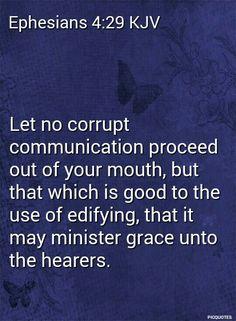 ephesians 4:29 Kjv