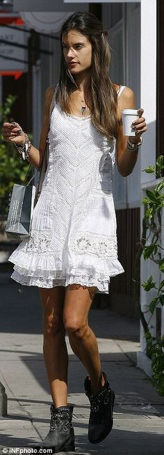 Couldn't wait 'till later? Alessandra Ambrosio whips out her razor and shaves…