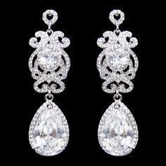Vintage Inspired Love Heart AAA Zircon Earrings