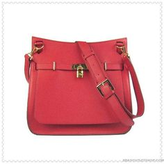 Hermes-Jypsiere-Shoulder-Bag-Red-Leather-Gold-Hardware.