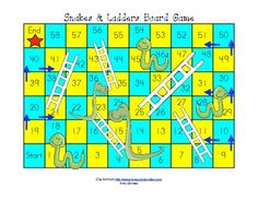 board game instructions template - learn snakes and ladders or chutes and ladders game