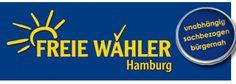 Logo of German political party FREIE WÄHLER, local branch in the city of Hamburg Political Party, Germany, Company Logo, Branding, Logos, City, Hamburg, Politics, Brand Management