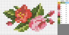 Cross Stitch Rose, Cross Stitch Borders, Cross Stitch Flowers, Cross Stitching, Cross Stitch Embroidery, Cross Stitch Patterns, Crochet Skirts, Needlepoint, Needlework