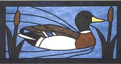 Mallard Duck Stained Glass Quilt Pattern - The Virginia Quilter