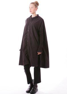 Kleid von RUNDHOLZ DIP bei nobananas mode #nobananas #rundholzdip #fw16 #dress #collar #zipper #fit #long #cotton #black