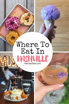 Nashville are endless! Here are our recommendations for all the delicious must-eats in the city, as well what to see and do . including America's FIRST layered candy bar, a whisky distillery with a fascinating history, and of course, the music scene! Nashville Food, Nashville Vacation, Tennessee Vacation, Nashville Tennessee, Nashville Things To Do, Visit Tennessee, Best Restaurants In Nashville, Nashville Must Do, Franklin Tennessee