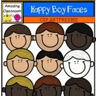 Free: This cute clip art set includes 9 happy faced boys. 8 in color and 1 in digital stamp format. These are high quality png images (meaning no white ...