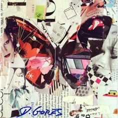 Collage Artwork: Collage Art by Derek Gores 'Lady Danger' See more original art Paper Collage Art, Collage Artwork, Collage Artists, Mixed Media Collage, Paper Art, Collage Ideas, Derek Gores, Grafik Art, Butterfly Art