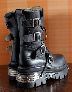 New Rock platform boots REACTOR moto by VintagePlatformDeal