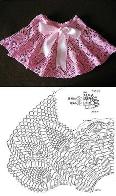 Intricate crochet little girl's skirt