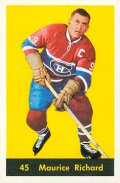 maurice richard hockey cards | 1960 Parkhurst Maurice Richard #45 Hockey Card