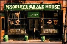 New York, New York - McSorley's Old Ale House. The greatest bar in America, and claimed by many to be the oldest. 15 East Street New York, NY. Lincoln Drank here! Bar Saloon, Oldest Bar In Nyc, Dublin Pubs, Ireland Pubs, Old Ale, Nyc Bucket List, A New York Minute, Irish Culture, New York Travel