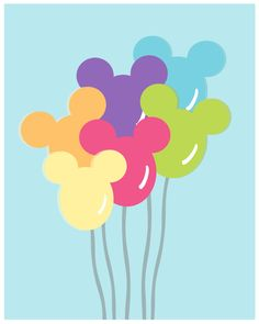 Mickey Balloons by TheBellaPrintShop
