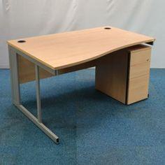 techo maple 1800 height adjustable wave desk used office furniture