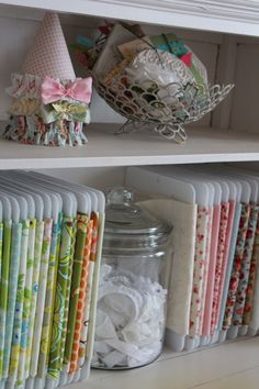 Girl. Inspired. {sewing, crafts, party inspiration}: Mission Reorganization: Fabric Storage