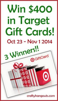 Win $400 in Target gift cards now from @OnlineLabels 3 winners will be picked.  1st Prize $200 gift card, 2nd & 3rd Prizes $100 gift cards.