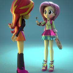 Fluttershy Friendship Through The Ages 3D MODEL by Fluttershy-ek