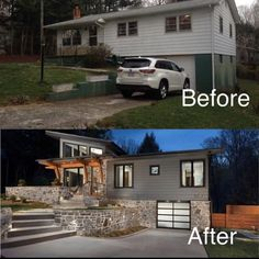 Our Suburban Fixer Upper brimming with rustic curb appeal and shabby chic charm,… Home Exterior Makeover, Exterior Remodel, Home Renovation, Home Remodeling, Reforma Exterior, Before After Home, House Makeovers, Room Makeovers, Architecture