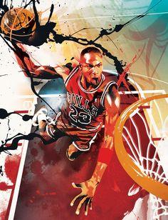 Michael Jordan 'Stencil' Art
