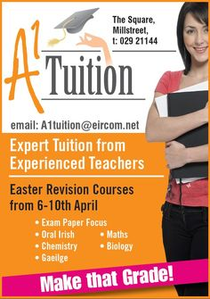 tuition advertisement pamphlet sample