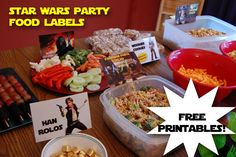 Star Wars Party Food Printables - definitely using these!