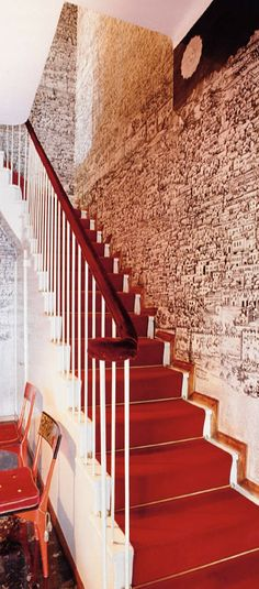☝☟escadas - Piero Fornasetti House and furniture. Fornasetti Wallpaper, Piero Fornasetti, Stairs And Staircase, Take The Stairs, Birdhouse In Your Soul, Picture Arrangements, Cole And Son Wallpaper, Wallpaper Stores, Famous Interior Designers