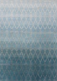 Misty petrol cloak rug