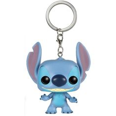 Funko Pocket POP Keychain Disney Stitch Keychain ($5.99) ❤ liked on Polyvore featuring accessories, fob key chain and disney