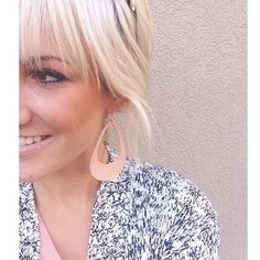 Even blondes can pull off our Nude Cut Out leather earrings! Love these on @fcolett! #nickelandsuede #leatherearrings #fallaccessories