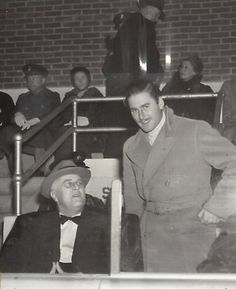 Errol Flynn with President Franklin Roosevelt