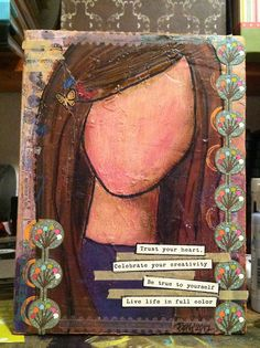 Original mixed media canvases by Beth Hackett