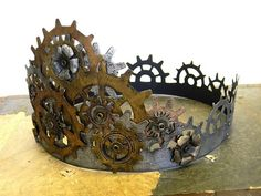 Gear crown made by Stamptramp using Tom Holtz dies and chipboard