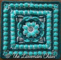 18 - Wildflower Mandala Square - Free Crochet Pattern - The Lavender Chair (14)