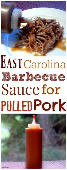 VIDEO + Recipe for East Carolina Barbecue Sauce for Pulled Pork from NoblePig.com. #BBQPork
