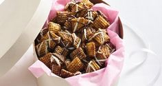 Chocolate Chex™ Caramel Crunch Chocolate Chex Mix, Chocolate Cereal, Chocolate Caramels, Gluten Free Chocolate, Chocolate Chips, Chex Mix Recipes, Dog Food Recipes, Yummy Recipes, Snack Recipes