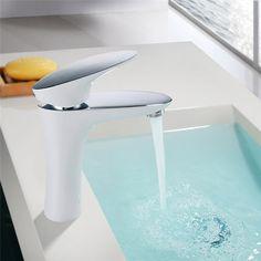Homelody DVGW Weiß Wasserhahn Mischbatterie Waschtisch Armatur Badezimmer Design