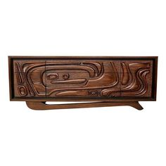 Mid-Century Sculpted Credenza Dresser - $5,500 Est. Retail - $3,500 on Chairish.com
