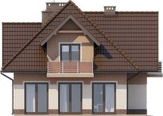 Elewacja lewa projektu Forsycjowo DM-6614 Just Dream, My Dream Home, Home Fashion, Floor Plans, House Design, Cabin, Flooring, Architecture, House Styles