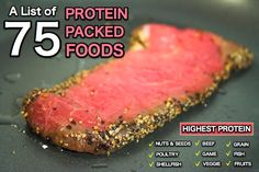 75 High Protein Foods - Great Reading!