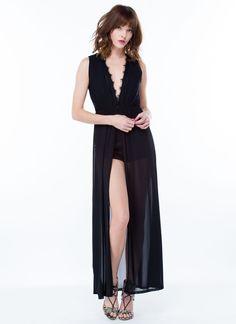 Feeling Lacy Maxi Dress BLACK - GoJane.com