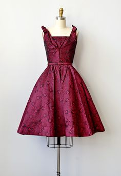 vintage 1950s red bombshell party dress [Holiday Kiss Dress] - $228.00 : ADORED | VINTAGE, Vintage Clothing Online Store