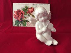 Vintage Porcelain Cherub figurine Cupid by MyVintageApartment Antique Roses, Cherubs, Cupid, Cake Toppers, Wedding Decorations, Porcelain, Angel, Romantic, Antiques