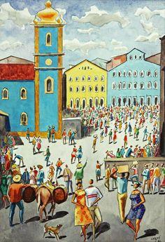 Pelourinho (de Caribé) Elfi Kürten Fenske: Carybé (Hector Julio Páride Bernabó) - A arte e a paixão pela Bahia