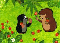 Ansichtskarte: Der kleine Maulwurf und Igel mit Erdbeeren - The little mole • EUR 1,00 - PicClick DE